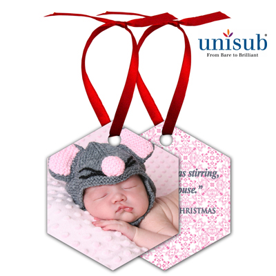 Unisub Sublimation Blank Aluminum Ornament - 2.6