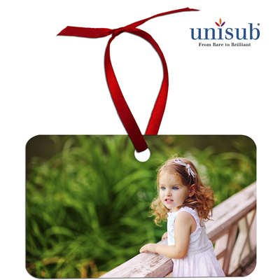 Unisub Sublimation Blank Aluminum Ornament - 2