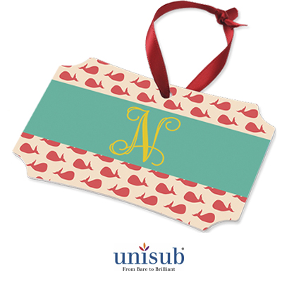 Unisub Sublimation Blank Aluminum Ornament - 3.94