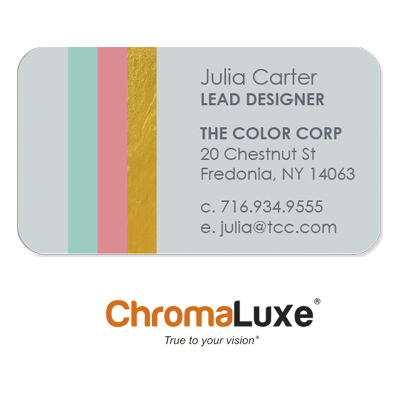 ChromaLuxe Aluminum 2x3.5 Rectangle Business Card