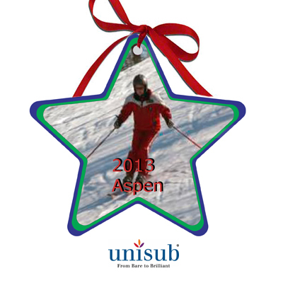 Unisub Sublimation Blank Aluminum Ornament - 3.81