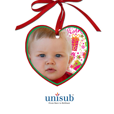 Unisub Sublimation Blank Aluminum Ornament - 2.87