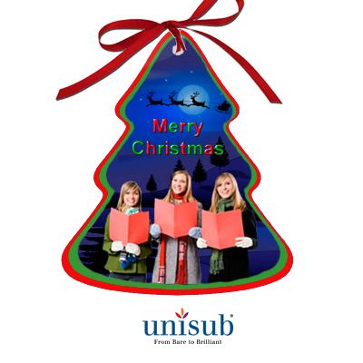 Unisub Sublimation Blank Aluminum Ornament - 3.38