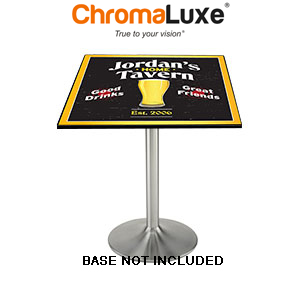 ChromaLuxe Sublimation Blank MDF Table Top - 23.75