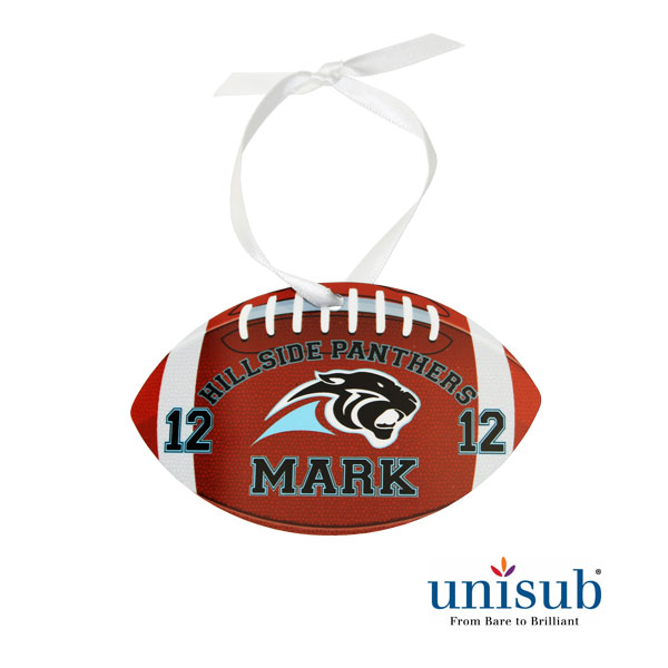 SublimationAluminum 2Sided Gloss Football Ornament