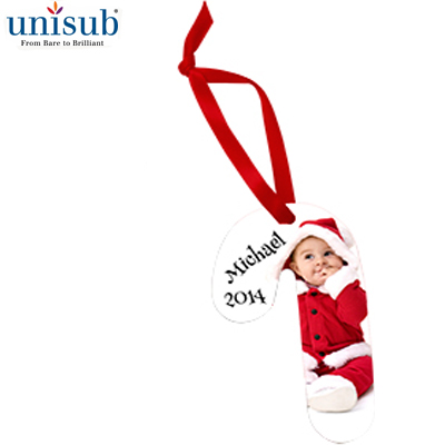 Unisub Sublimation Blank Aluminum Ornament - 2.29