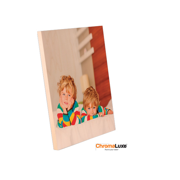 8x10 ChromaLuxe Natural Wood Photo Panel
