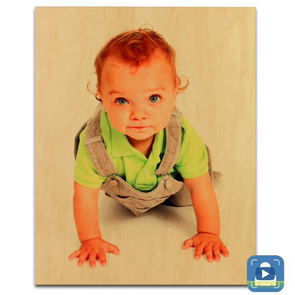 ChromaLuxe Sublimation Blank Natural Wood Photo Panel - 11