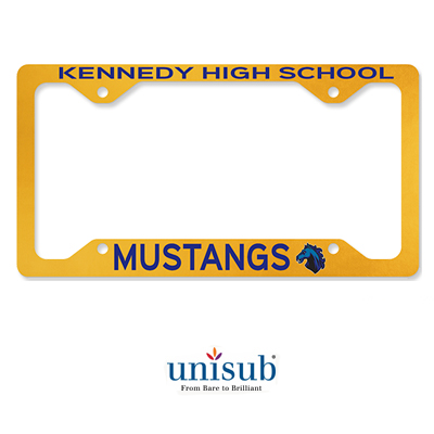 Unisub Sublimation Blank Aluminum License Plate Frame - White Gloss