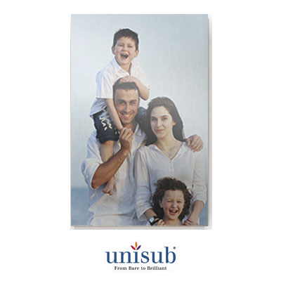 Unisub Sublimation Blank Aluminum Sheet Stock - 12 x 24 - Gloss Clear