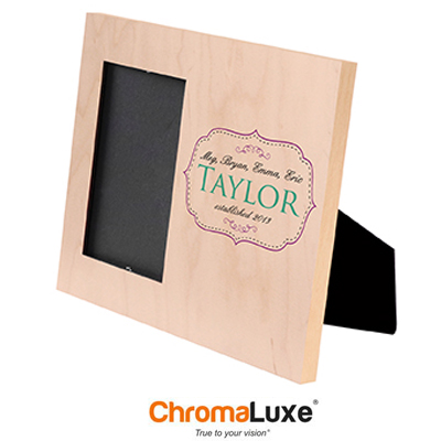 8x10 Natural Wood Picture Offset Frame - 4x6 Photo