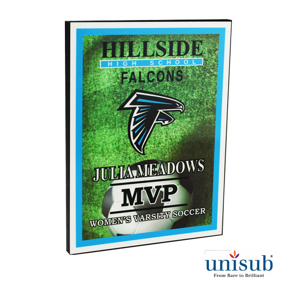 6x8 Sublimation 1/2 MDF Plaque - Semi Gloss White