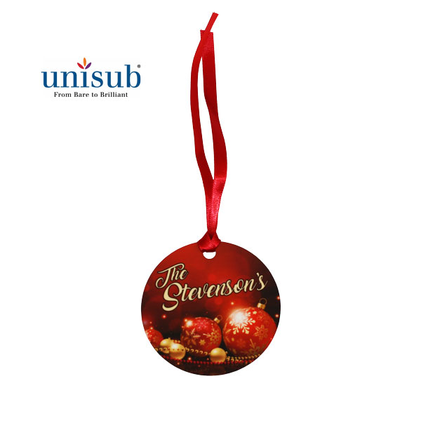 Unisub Sublimation Blank Aluminum Ornament - 2.75