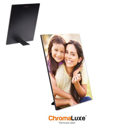 ChromaLuxe Sublimation Blank Hardboard Photo Panel - 5 x 7 - Semi-Gloss White w/Kickstand Easel