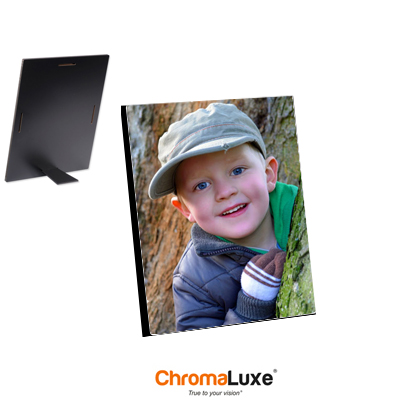 ChromaLuxe Sublimation Blank Hardboard Photo Panel - 8 x 10 - Gloss White w/Kickstand Easel