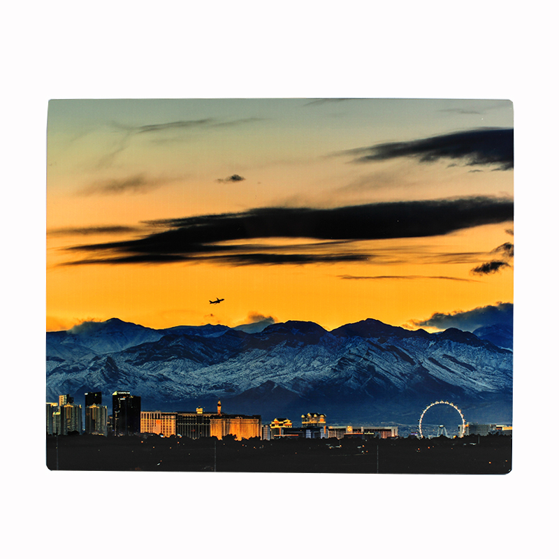 ChromaLuxe® Sublimation Blank Hardboard Photo Panel - 8x10 - Flat Top, w/Kickstand - Gloss White