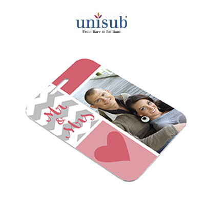 Unisub Sublimation Blank Aluminum Bag Tag - 2.75