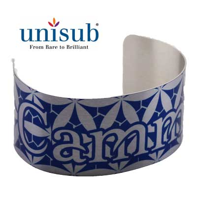 Unisub Sublimation Blank Cuff Bracelet - Large - Clear Gloss