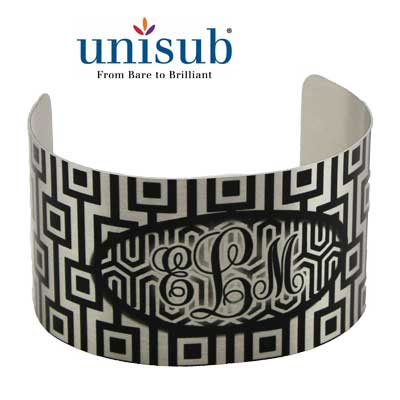 Unisub Sublimation Blank Cuff Bracelet - Extra Large - Clear Gloss