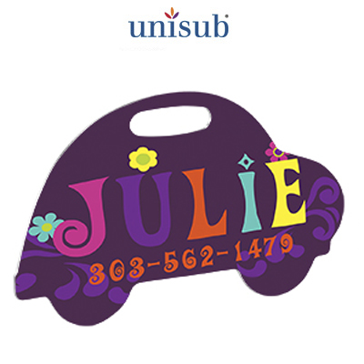 Car Shaped Unisub® Aluminum Bag Tag