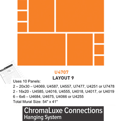 ChromaLuxe Connections Layout #9 - 5 Template