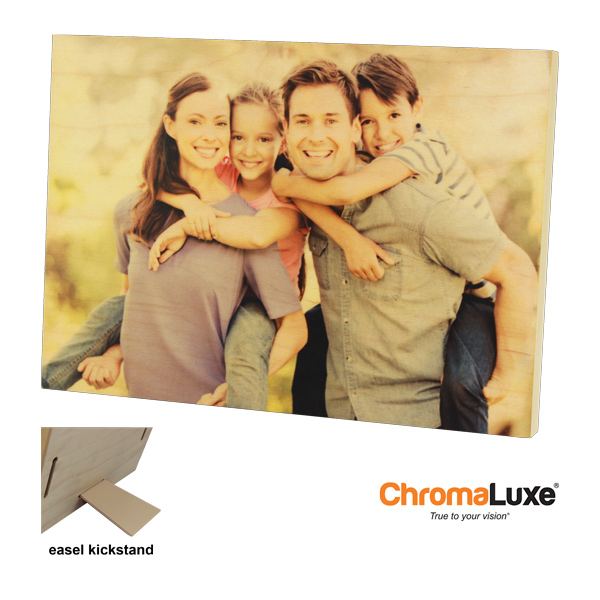 5x7 ChromaLuxe Natural Wood Photo Panel