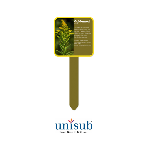 Unisub Sublimation Blank Outdoor Aluminum Garden Stake - 4 x 10 - Square