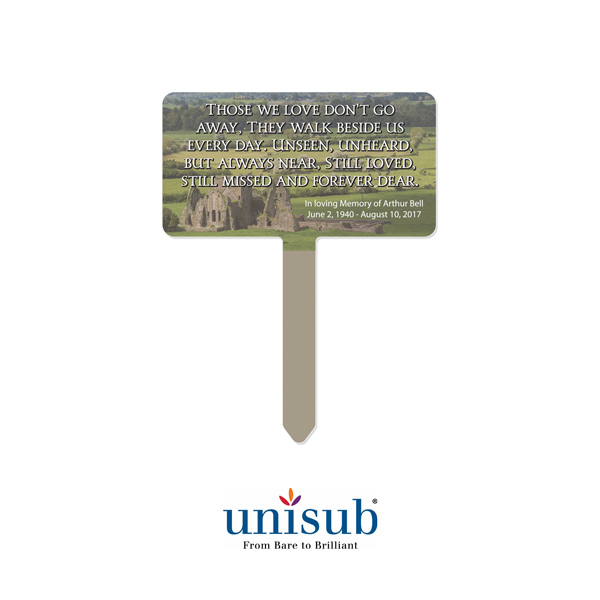 Unisub Sublimation Blank Outdoor Aluminum Garden Stake - 7.75 x 10 - Rectangle