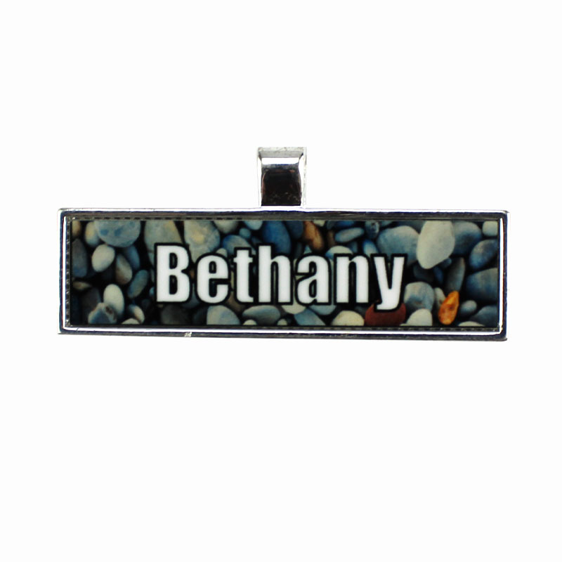 Unisub® Sublimation Blank Rectangle Bezel Pendant - 0.49 x 1.98 - w/ Aluminum Rectangle Insert