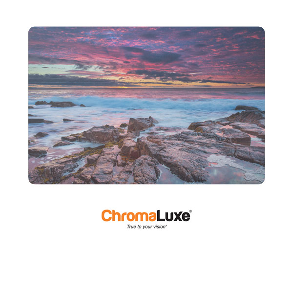 Chromaluxe Sublimation Blank EXT Life Aluminum Photo Panel - 24 x 36- Gloss Clear
