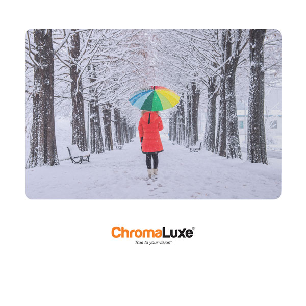 Chromaluxe Sublimation Blank EXT Life Aluminum Photo Panel - 40 x 60- Gloss Clear
