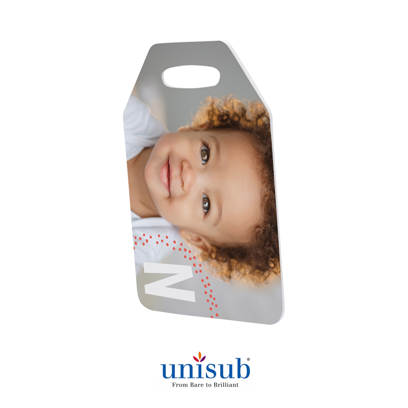 Unisub® Sublimation Blank FRP Travel Bag Tag - 2 Sided