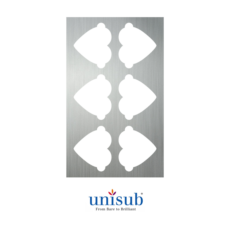 Unisub® Sublimation Production Jig for U4868 (Heart Ornament)