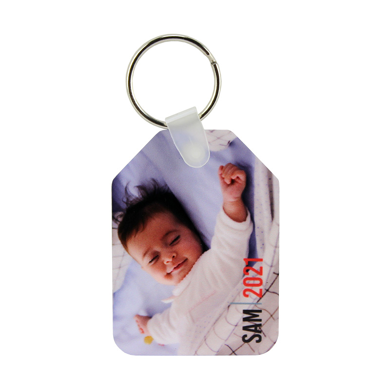 Unisub® Sublimation Blank Aluminum Key Chain Tag - w/ Split Ring - 2 Sided