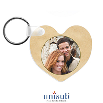 2.5x2 FRP Heart Key Tag 2sided - White Gloss