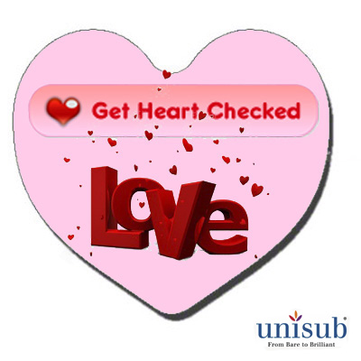 Unisub Sublimation Blank FRP Magnet - 2.5 - Heart