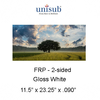 11.5x23.25 Unisub FRP Gloss Sheet Stock