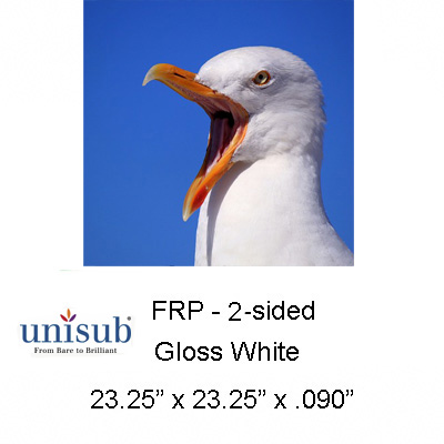 23.25x23.25 2Sided Gloss White FRP Sheet Stock