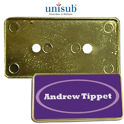 Gold ID Badge Frame for Upscale Presenters