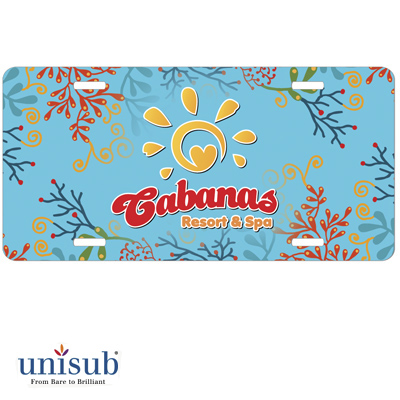Unisub Sublimation Blank Aluminum License Plate - White Gloss