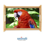 Unisub Sublimation Blank Wood Serving Tray Kit - 10