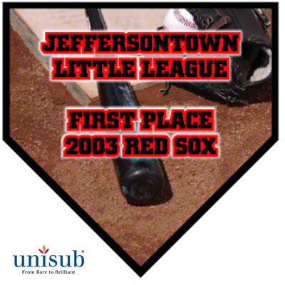 10x10 Unisub Large Gloss Home Plate Plaque