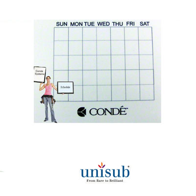 Unisub Sublimation Blank Hardboard Tile - 6