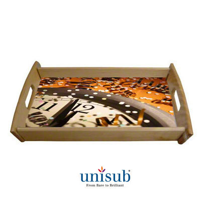 Unisub Sublimation Blank Wood Serving Tray Kit - 10 X 14 - Natural Finish - 25-Pack
