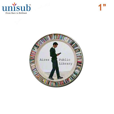 Unisub Sublimation Blank Aluminum Lapel Pin Insert - 1