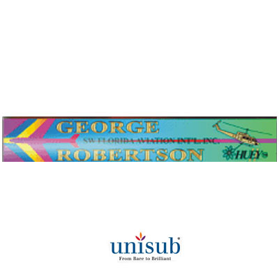Unisub Sublimation Blank Aluminum Desk Name Plate Holder - Spare Insert for U5752