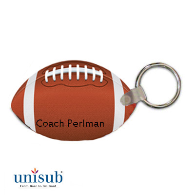 Unisub FRP 2Sided Football Key Tag White Gloss