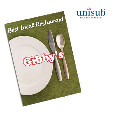 6x8 Unisub White Gloss Aluminum Plaque