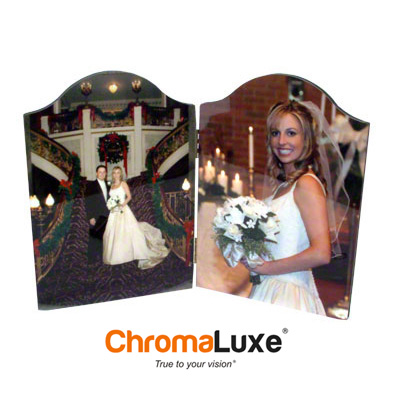 ChromaLuxe™ Hinged Photo Panel - White Gloss