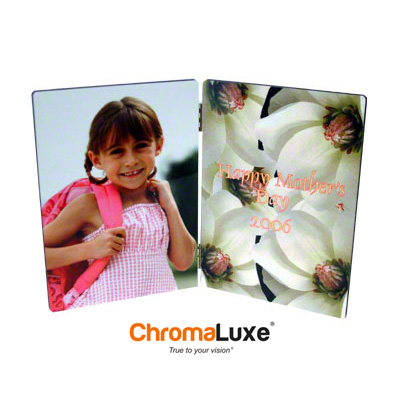 ChromaLuxe Hinged Hardboard PhotoPanel-White Gloss